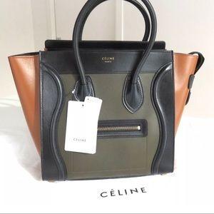 Tri Color Micro luggage Celine